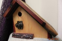 Hemlock/Redwood Chickadee House