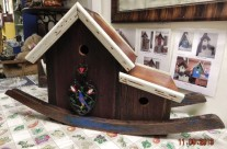 Rocking Chair Red barnboard Birdhouse